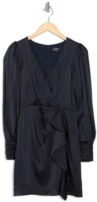 Parker Thelma Silk Ruffle Trim Dress