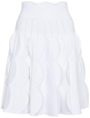 Alaia High-rise poplin miniskirt