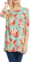 Reborn J Floral Tunic Top