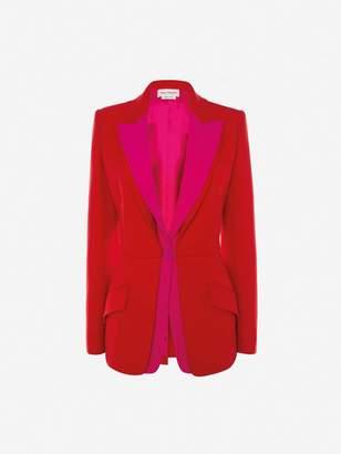 Alexander McQueen Double Lapel Light Wool Silk Jacket