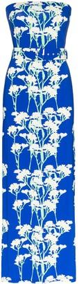 BERNADETTE Carrie strapless floral-print maxi dress