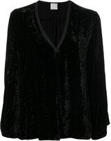 Forte Forte V-neck velvet blouse - women - Silk/Viscose - 0