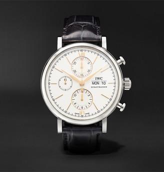 IWC SCHAFFHAUSEN Portofino Automatic Chronograph 42mm Stainless Steel And Alligator Watch, Ref. No. Iw391031