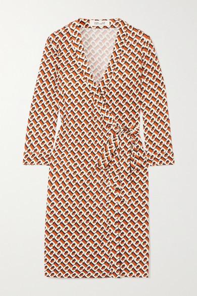 Diane von Furstenberg Julian Printed Silk-jersey Wrap Dress - Yellow