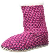 Noble Mount Womens Oxford Indoor Boot Slippers - Purple/Pink - Small