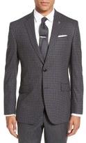 Ted Baker Men's 'Jones' Trim Fit Plaid Stretch Wool Sport Coat
