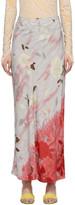 Collina Strada SSENSE Exclusive Grey Charlie Engman Edition Pierced Yod Skirt
