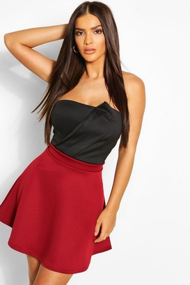 boohoo Basic Fit And Flare Skater Skirt
