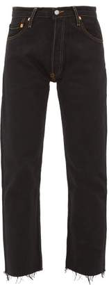 RE/DONE High Rise Stove Pipe Jeans - Womens - Black