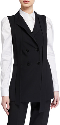 RED Valentino Double-Breasted Stretch Vest