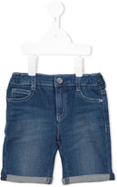 Armani Junior washed denim shorts - kids - Cotton/Spandex/Elastane - 18 mth