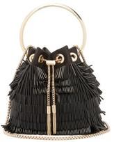 Jimmy Choo Bonbon Beaded Clutch Bag - Womens - Black