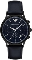 Emporio Armani Polished Round Stainless Steel Watch
