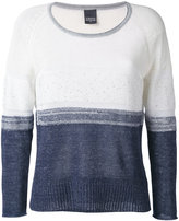 Lorena Antoniazzi colour block jumper - women - Cotton/Linen/Flax/Nylon/Polyester - 42