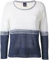 Lorena Antoniazzi colour block jumper - women - Linen/Flax/Nylon/Cotton/Polyester - 40