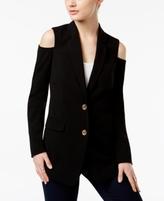 MICHAEL Michael Kors Petite Cold-Shoulder Blazer