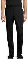 Gucci Cotton Solid Flat Front Trousers