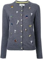 Muveil embellished cardigan - women - Cotton/Polyester - 36