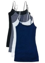 Active Products 4 Pack Active Basic Women's Basic Tank Top (L-Wh/Gld Mst/Spc Org/Fch)