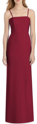 Lela Rose Bridesmaid Bow Back Crepe Column Gown