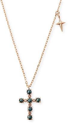 Stevie Wren 14k Small Diamond Cross & Star Pendant Necklace