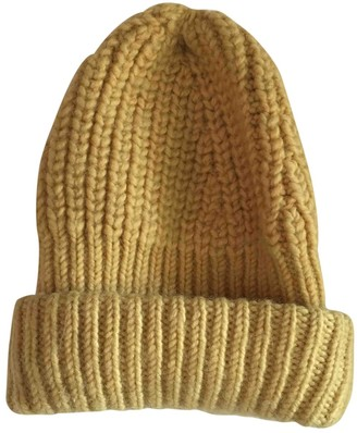 Acne Studios Yellow Wool Hats