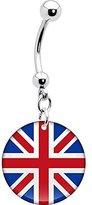 Body Candy United Kingdom Flag Belly Ring