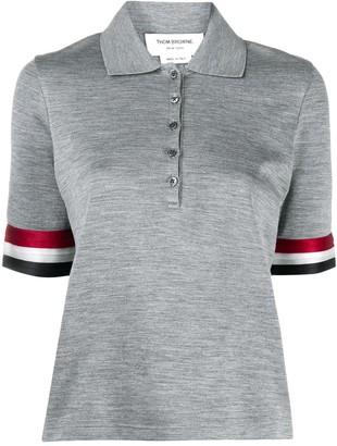 Thom Browne Stripe Sleeve Polo Shirt