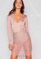 Missy Empire Aleta Rose Pink Sheer Bodycon Mini Skirt