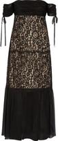 Rachel Zoe Arlene off-the-shoulder lace and silk-georgette dress