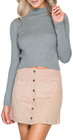 She + Sky Corduroy Mini Skirt