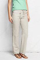Classic Women's Linen Pants-Flax Stripe