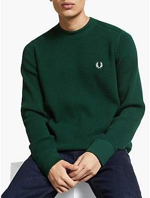 Fred Perry Waffle Texture Crew Neck Jumper