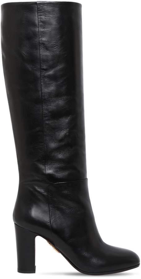 Aquazzura 85mm Brera Leather Boots