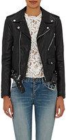 Saint Laurent Women's Dome-Studded Leather Moto Jacket