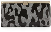 Jimmy Choo Camille Leopard Patent Glitter Clutch Bag, Gray/Black