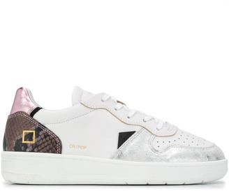 D.A.T.E Low-Top Snakeskin Trainers