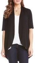 Karen Kane Women's 'Sophie' Short Sleeve Jersey Open Front Cardigan