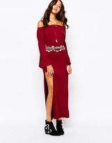 Boohoo Off The Shoulder Maxi Dress