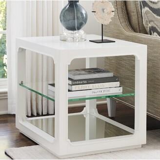 Lexington Avondale Floor Shelf End Table with Storage