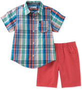 Kids Headquarters 2-Pc. Cotton Shirt & Shorts Set, Toddler & Little Boys (2T-7)