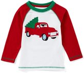 Class Club Adventure Wear by Little Boys 2T-6 Christmas Truck Long-Sleeve Tee