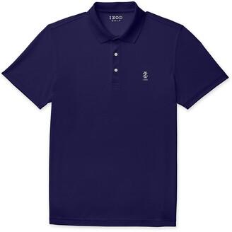 Izod Men's Big and Tall Golf Champion Grid Short Sleeve Polo