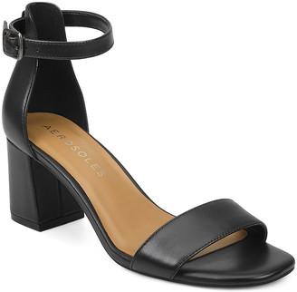 Aerosoles Women's Sandals BLACK - Black Elba Leather Sandal - Women