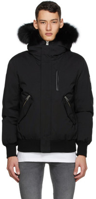 Mackage SSENSE Exclusive Black Down and Fur Dixon-XR Jacket