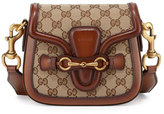 Gucci Lady Web Small GG Canvas Shoulder Bag, Brown