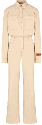 Heron Preston Beige Cotton Jumpsuits