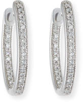 Jude Frances Lisse Small Diamond Hoop Earrings in 18K White Gold