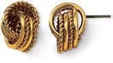 JCPenney MONET JEWELRY Monet Gold-Tone Knot Earrings