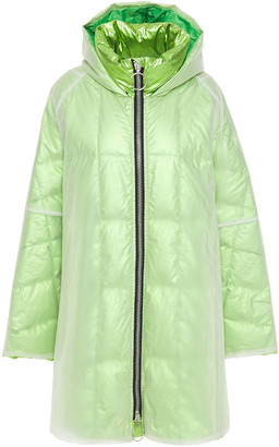 Ienki Ienki Raincoat Pvc And Quilted Foiled Shell Hooded Down Coat